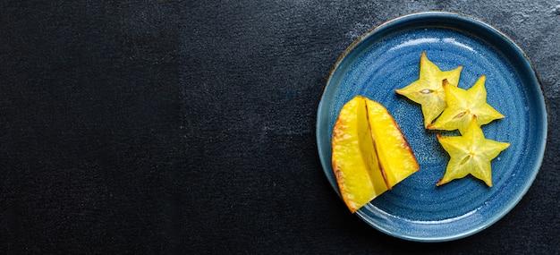 Carambola star plasterki owoców gotowe do spożycia zdrowej przekąski
