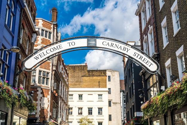 Carnaby znak uliczny w londyn