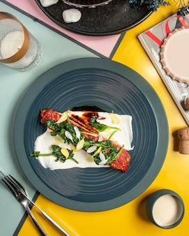 Carpaccio z mięsa z białym serem