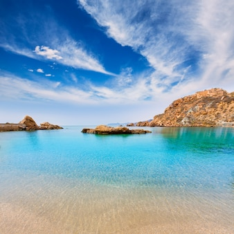 Cartagena cala cortina plaża w murcia hiszpania