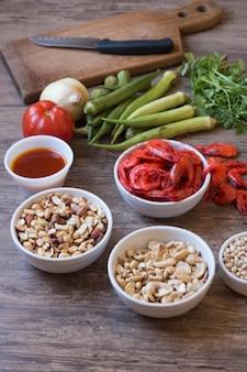 Caruru brazylijskie składniki żywności typowe jedzenie z bahia.