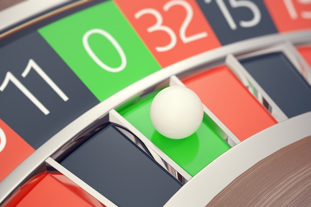 Casino roulette las vegas gambling concept.