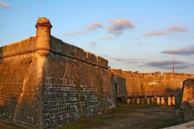 Castillo de san marcos w st. augustine, floryda, usa