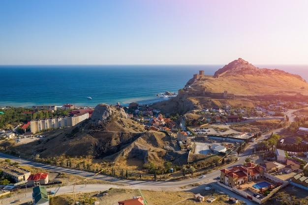 Castle hill w mieście sudak crimea