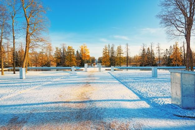 Catherine park w pobliżu pałacu o tej samej nazwie, carskie sioło (puszkin). sankt petersburg. rosja.