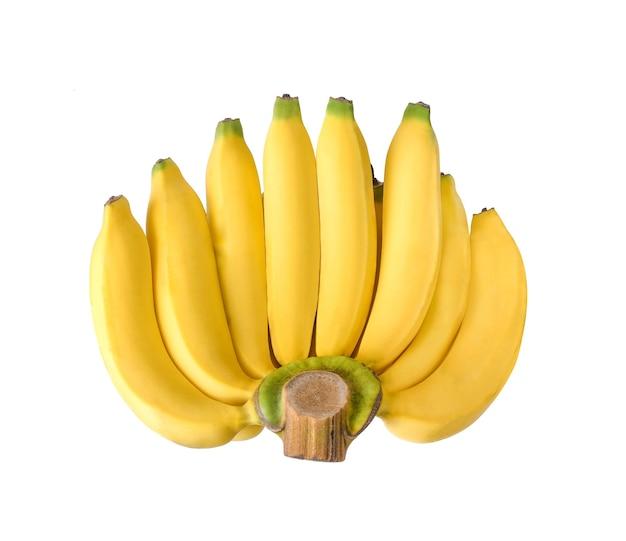Cavendish banan na białym tle