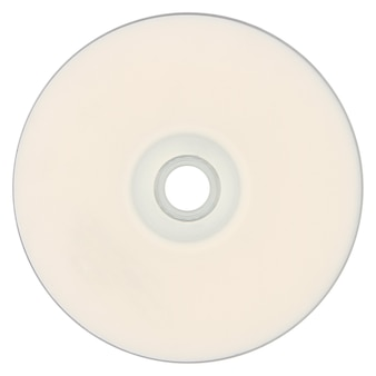 Cd (płyta kompaktowa) na białym tle nad białym