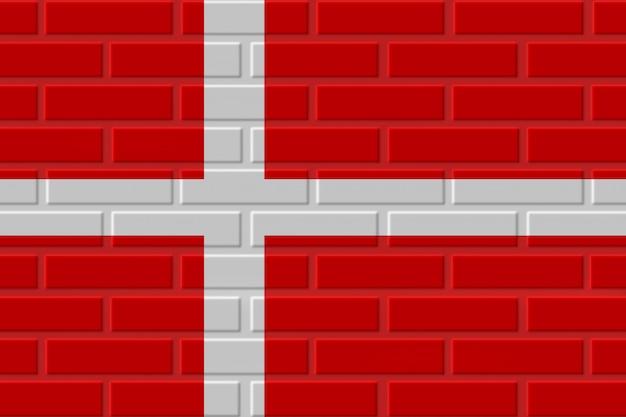 Cegła flaga danii ilustracja