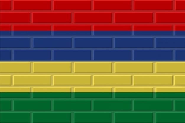 Cegła flaga mauritiusa ilustracja