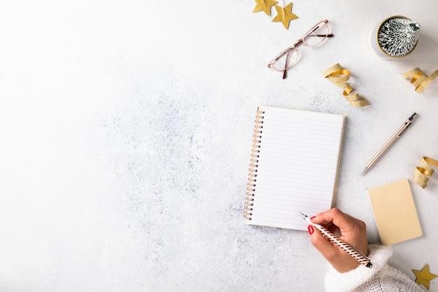 Cele nowego roku, plany, działania. koncepcje motywacji biznesowej.
