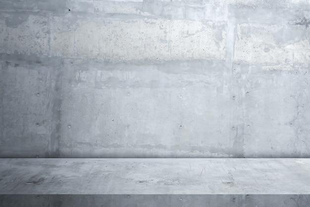 Cementowa podłoga i tło ściany