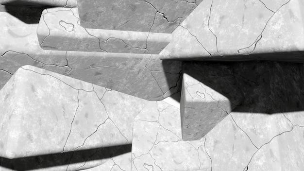 Cementowa szara podłoga z pęknięciami