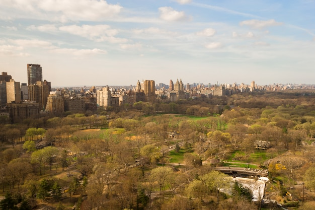 Central park, manhattan, nowy jork, ameryka