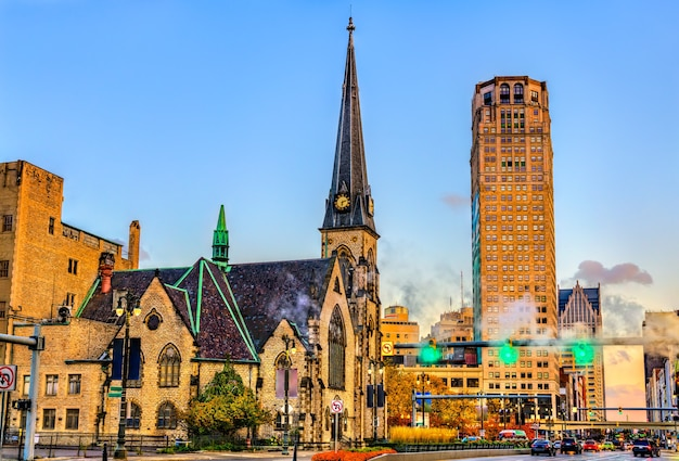 Central united methodist church w centrum detroit w stanie michigan, stany zjednoczone