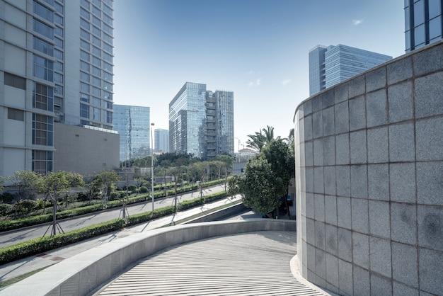 Centralna dzielnica biznesowa, drogi i wieżowce, xiamen