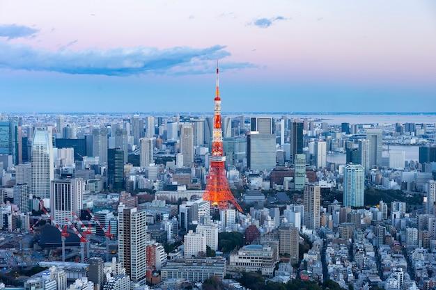 Centralne tokio i tokyo tower
