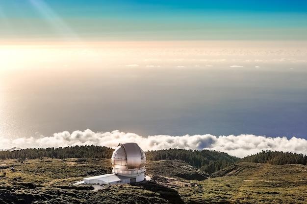 Centrum badań astrofizycznych na la palma na wyspach kanaryjskich