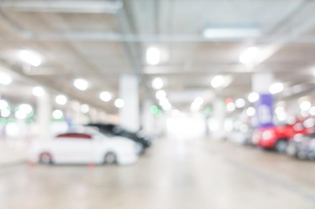 Centrum biznesowe pustym parkingu abstrakcyjne