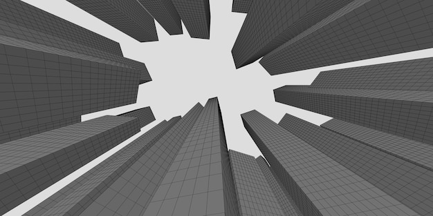 Centrum biznesu i finansów budynek architektura obrazu 3d, ilustracja 3d