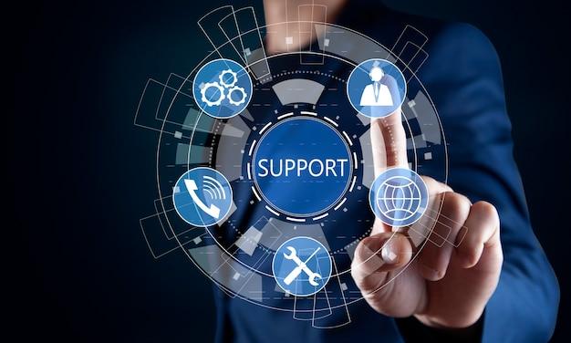 Centrum pomocy technicznej obsługa klienta internet business technology concept.