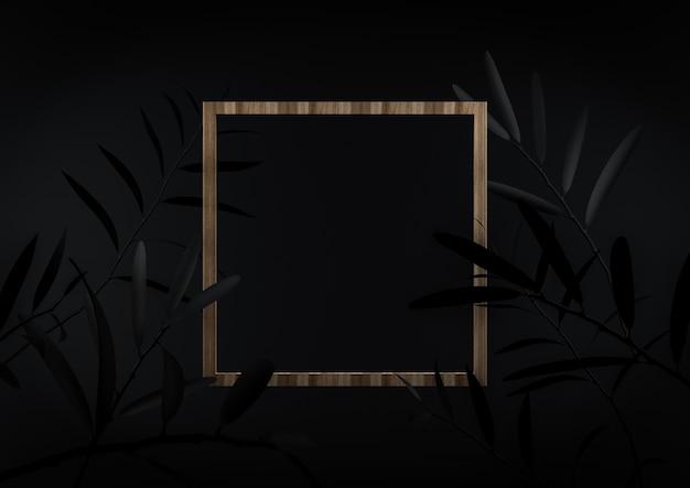 Centrum ramki na zdjęcia na czarnym tle. możesz wstawić swój tekst lub cokolwiek w tym fra
