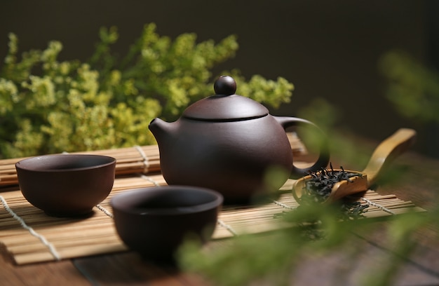Ceramiczne gliny wody tle ceremonia