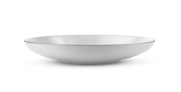 Ceramiczny puchar na białym tle