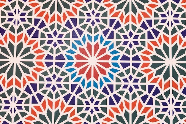 Ceramiczny tło z geometrycznych kształtów