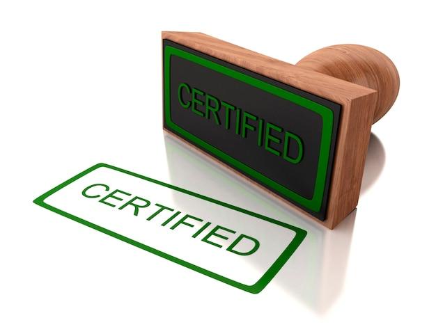 Certyfikat 3d