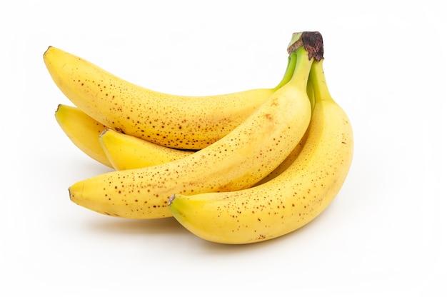 Cętkowane banany. dojrzewające banany cavendish
