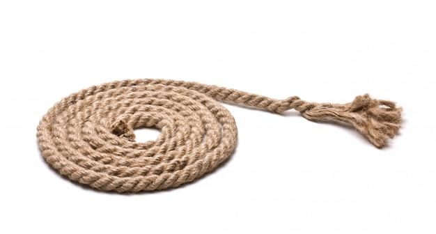Cewka liny konopne na białym