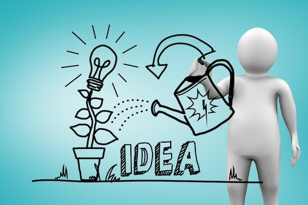 Charakter podlewania pomysł