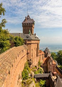Chateau du haut-koenigsbourg alsace, francja