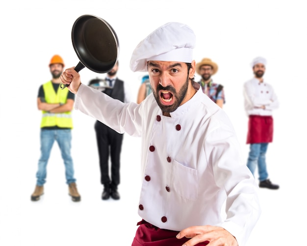 Chef gospodarstwa patelnia