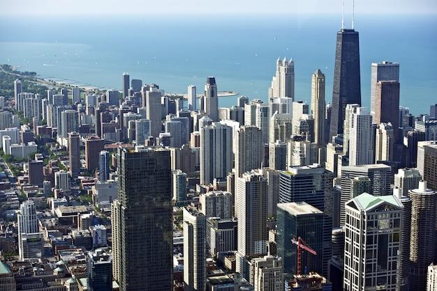 Chicago śródmieście oko ptaków