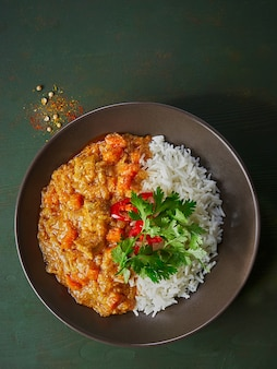 Chicken tikka masala spicy curry meat food