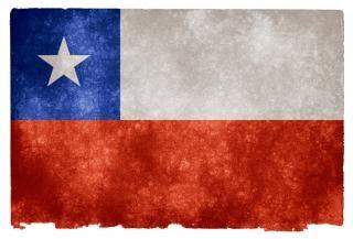 Chile flag dokument grunge
