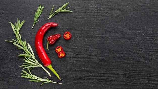 Chili peper z miejsca kopiowania