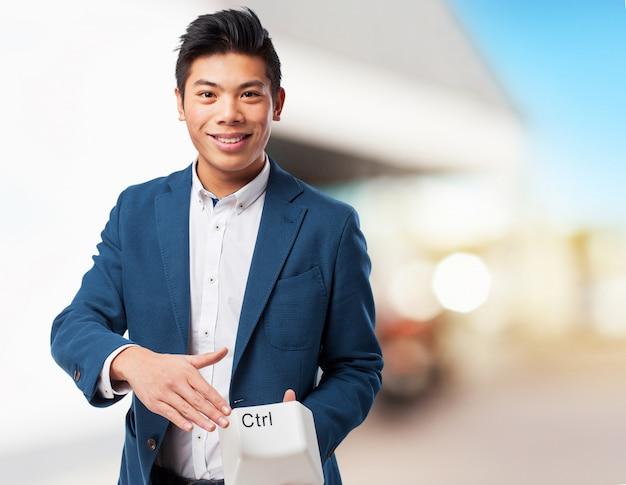 Chińczyk z klawisza sterującego