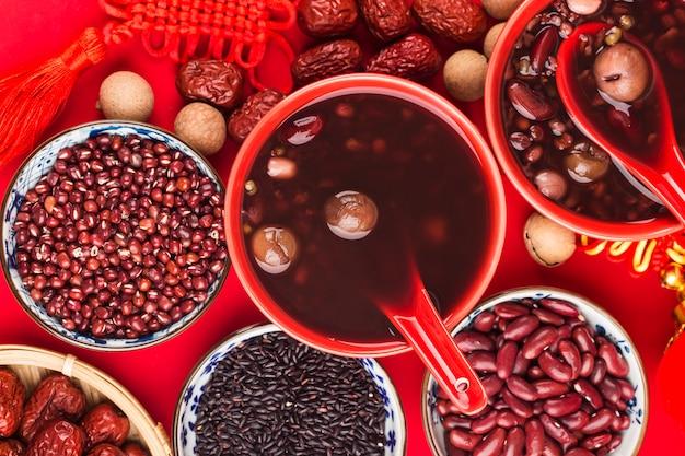 Chińska kuchnia północna, owsianka laba, osiem owsianek skarbów chińskie błogosławieństwo