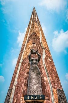 Chińska pagoda buddyjska: ruiguang pagoda w suzhou w chinach.