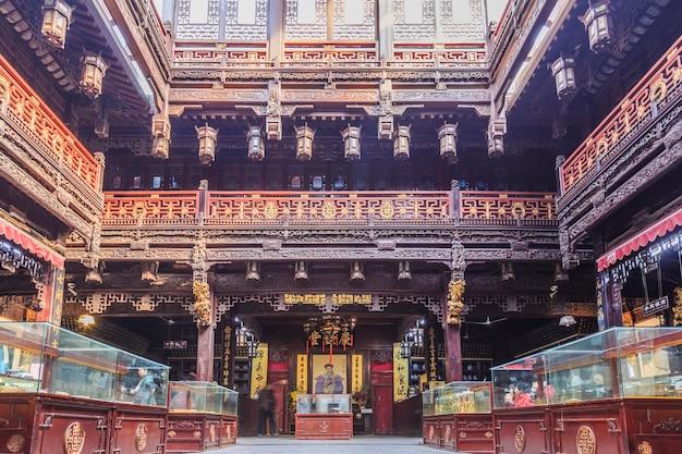 Chiński architektury zielony turystyka wakacje wakacje