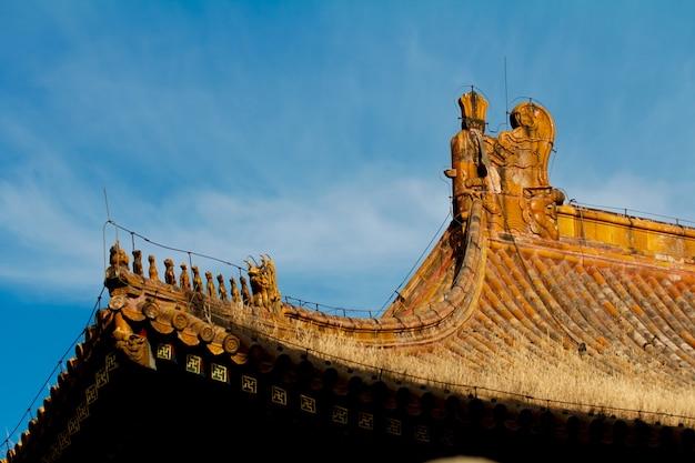 Chiński dachu budynku