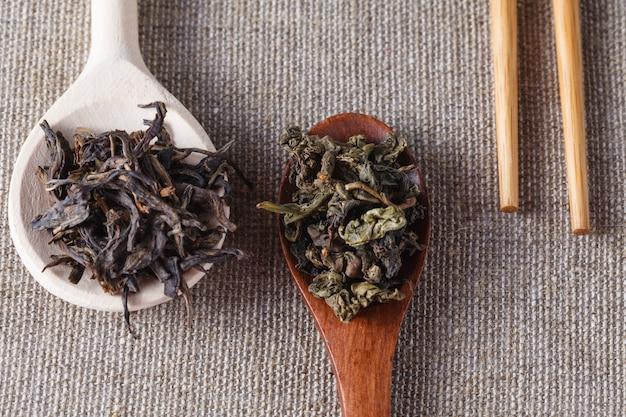 Chiński herbaciany puer, zbliżenie