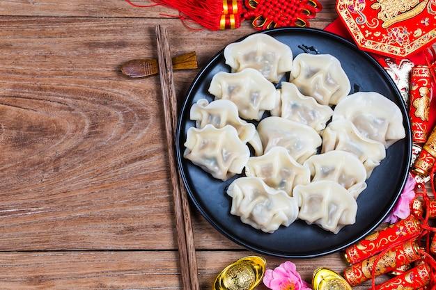 Chiński jiaozi nowego roku żywności