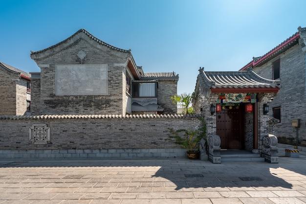 Chiński klasyczny krajobraz architektury dziedzińca