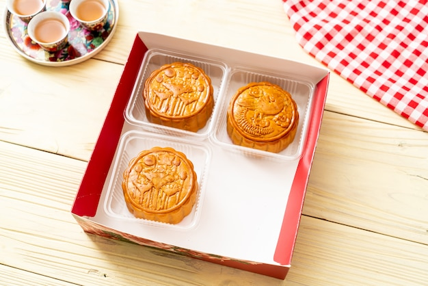Chiński księżycowy tort na chiński festiwal w połowie jesieni