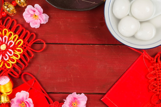 Chiński latarniowy festiwal jedzenie