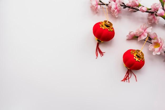 Chiński nowy rok pojęcie z copyspace