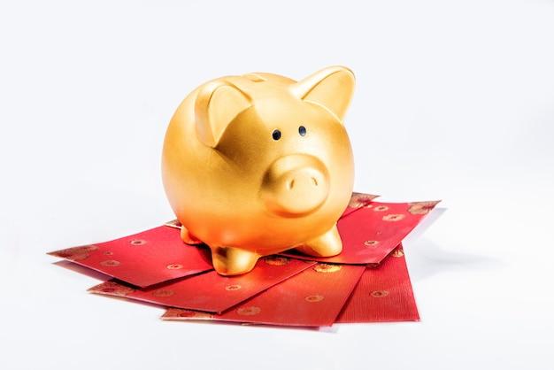 Chiński nowy rok. rok świni ziemi